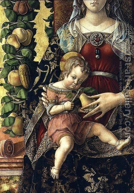 Madonna of the Little Candle (detail) by Carlo Crivelli - Reproduction Oil Painting