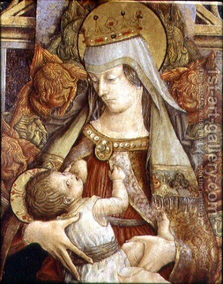 Madonna Suckling the Christ Child by Carlo Crivelli - Reproduction Oil Painting