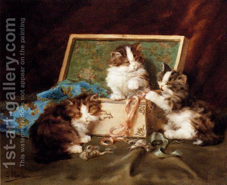 The Sewing Box by Daniel Merlin - Reproduction Oil Painting