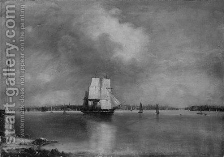 Bay and Harbor of New York from Bedlow's Island I by Edmund C. Coates - Reproduction Oil Painting