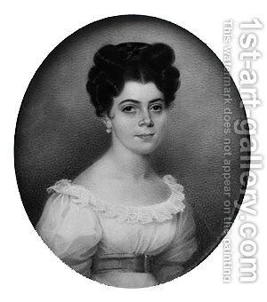 Mrs. Jean Pierre Barre by Charles Fraser - Reproduction Oil Painting
