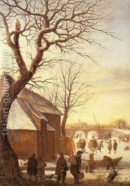 Winter Landscape III by Hendrick Avercamp - Reproduction Oil Painting