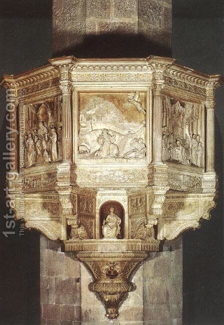 Pulpit by Benedetto Da Maiano - Reproduction Oil Painting