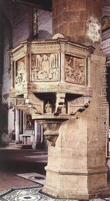 Pulpit I by Benedetto Da Maiano - Reproduction Oil Painting