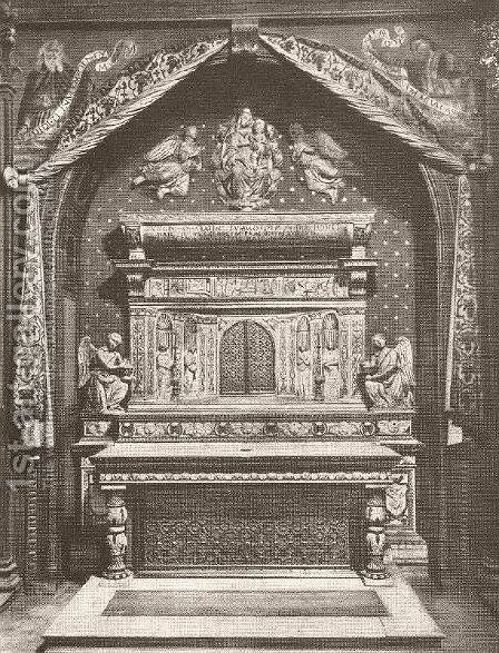 Altar by Benedetto Da Maiano - Reproduction Oil Painting
