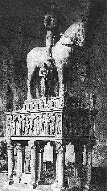 Monument to Bernabo Visconti by Bonino Da Campione - Reproduction Oil Painting