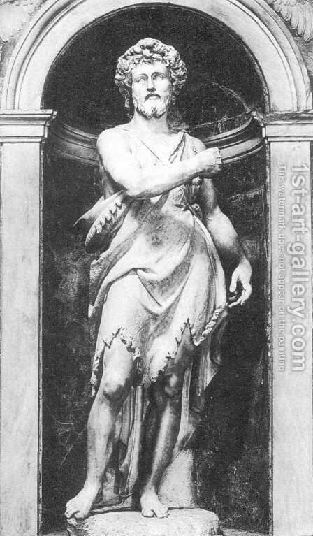 St John the Baptist by Ambrogio Bonvicino - Reproduction Oil Painting