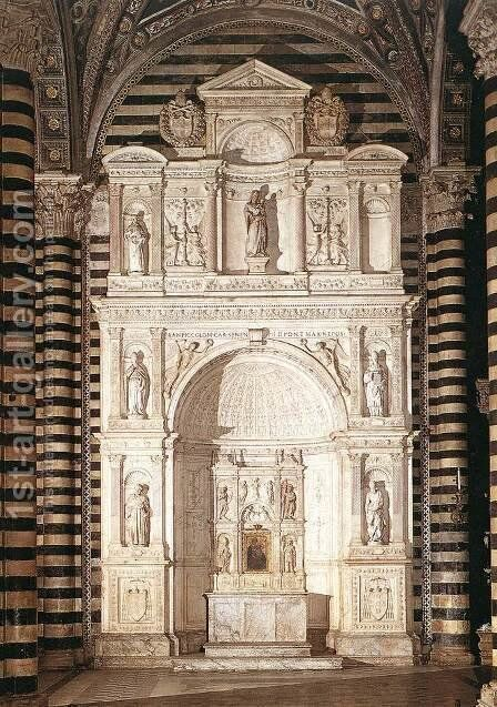Piccolomini Altar by Andrea Bregno - Reproduction Oil Painting