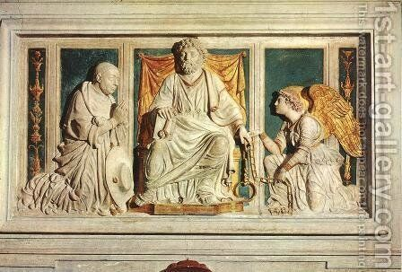Monument of Cardinal Nicola de Cusa by Andrea Bregno - Reproduction Oil Painting