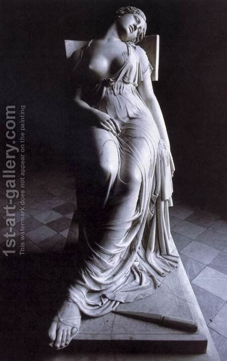 The Dying Lucretia by Damian Campeny Y Estany - Reproduction Oil Painting