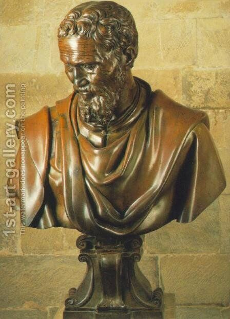Bust of Michelangelo by Daniele Ricciarelli - Reproduction Oil Painting