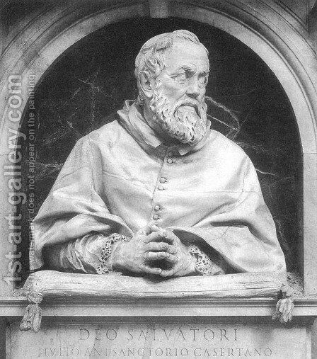 Bust of Cardinal Giulio Antonio Santorio by Giuliano Finelli - Reproduction Oil Painting