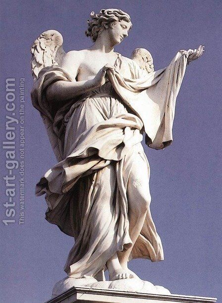 Angel with the Sudarium by Cosimo Fancelli - Reproduction Oil Painting