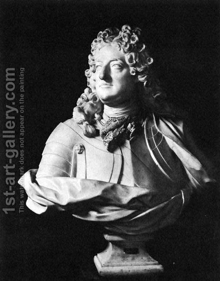Bust of the Regent by Jean-Louis Lemoyne - Reproduction Oil Painting