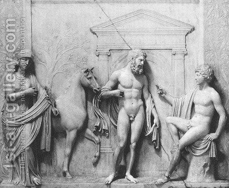 Contest between Minerva and Neptune by Antonio Lombardo - Reproduction Oil Painting