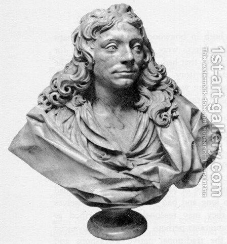 Bust of Sir Christopher Wren by Edward Pearce - Reproduction Oil Painting