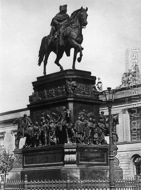 Equestrian Statue of Frederick the Great by Christian Daniel Rauch - Reproduction Oil Painting