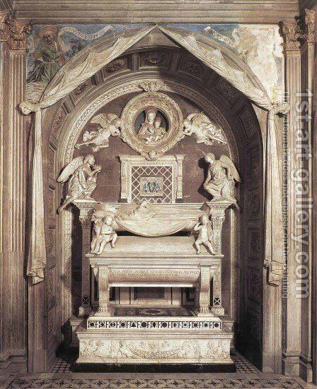 Tomb of the Cardinal of Portugal by Antonio Rossellino - Reproduction Oil Painting