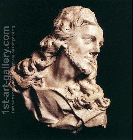 Bust of Christ by Christophe Veyrier - Reproduction Oil Painting