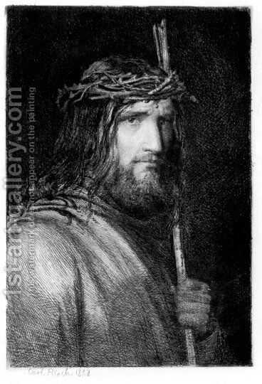 Portrait of Christ I by Carl Heinrich Bloch - Reproduction Oil Painting