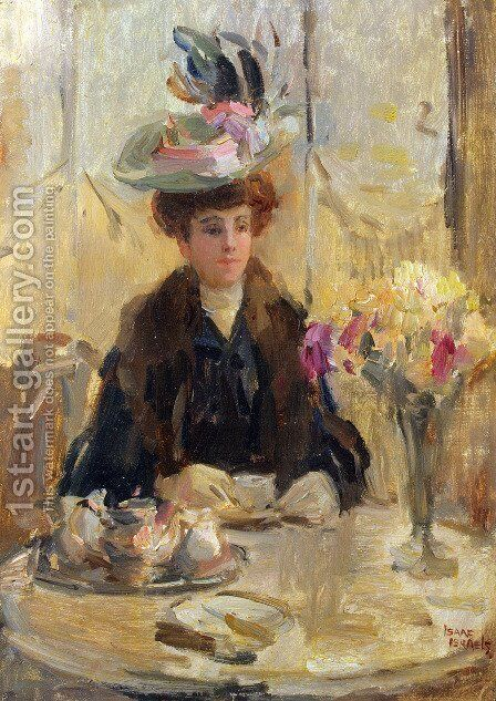 Het Dure Hoedje by Isaac Lazerus Israels - Reproduction Oil Painting