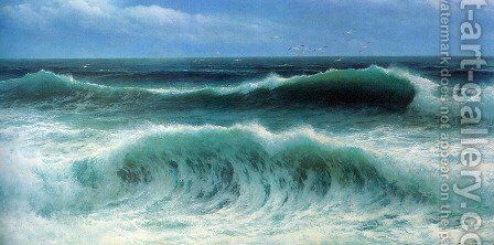 Breaking Waves I by David James - Reproduction Oil Painting