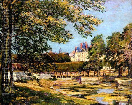 The Palace At Fontainbleau by Alexander Jamieson - Reproduction Oil Painting