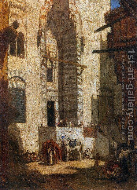Mosque at Cairo by Marius Bauer - Reproduction Oil Painting