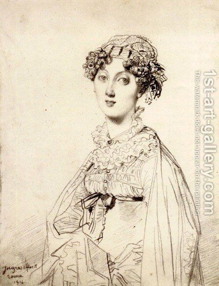 Lady William Henry Cavendish Bentinck, born Lady Mary Acheson I by Jean Auguste Dominique Ingres - Reproduction Oil Painting