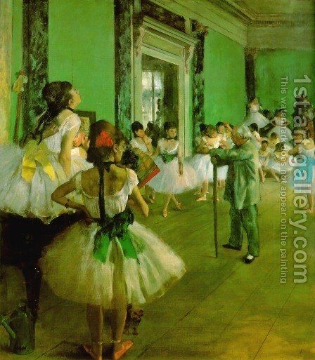 Dance Class II by Edgar Degas - Reproduction Oil Painting