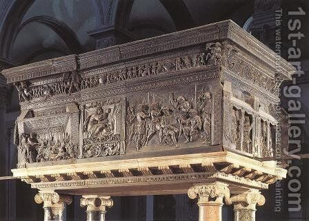 Pulpit on the right by Donatello - Reproduction Oil Painting