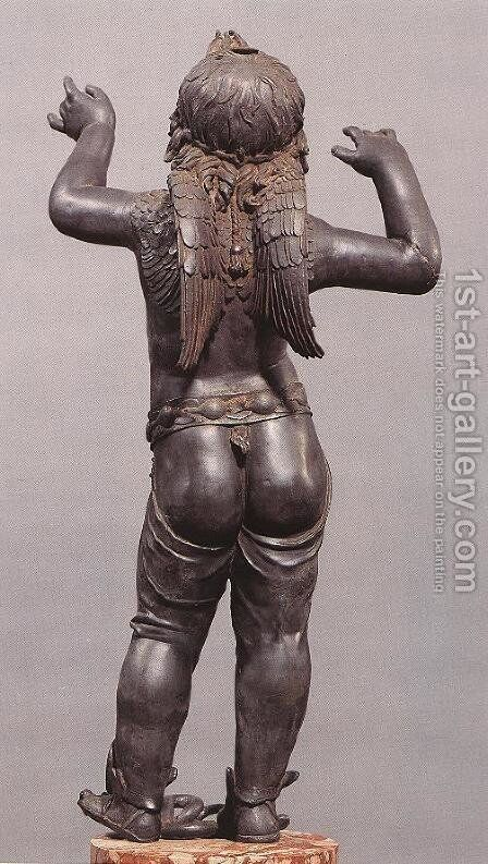Allegoric Figure of a Boy (Atys), rear view by Donatello - Reproduction Oil Painting