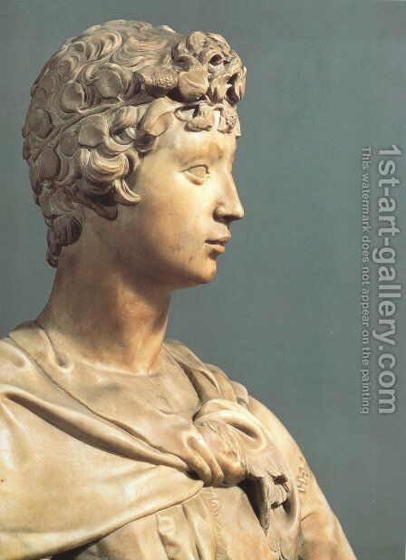 David [detail] by Donatello - Reproduction Oil Painting