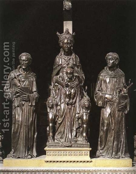 Madonna and Child between St Francis and St Anthony by Donatello - Reproduction Oil Painting