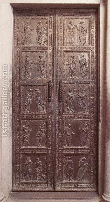 Door with the representation of Martyrs by Donatello - Reproduction Oil Painting