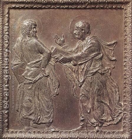 Panel of the door with the Apostles by Donatello - Reproduction Oil Painting