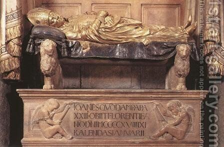 Funeral Monument to John XXIII (detail) by Donatello - Reproduction Oil Painting