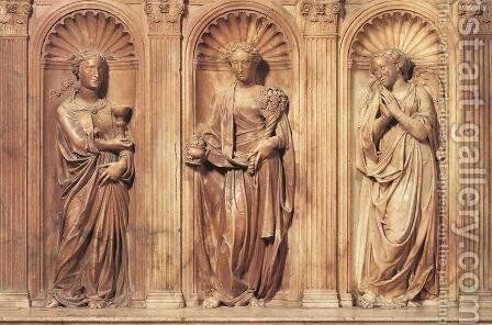 Funeral Monument to John XXIII (detail) I by Donatello - Reproduction Oil Painting