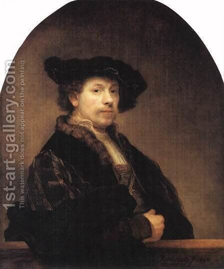 Self-portrait V by Harmenszoon van Rijn Rembrandt - Reproduction Oil Painting