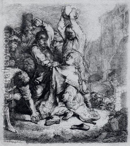 The Stoning Of St. Stephen by Harmenszoon van Rijn Rembrandt - Reproduction Oil Painting