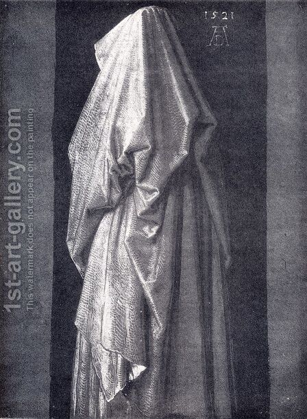 Study Of Drapery by Albrecht Durer - Reproduction Oil Painting