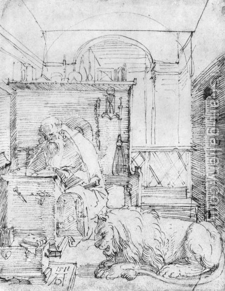 St. Jerome In His Study by Albrecht Durer - Reproduction Oil Painting