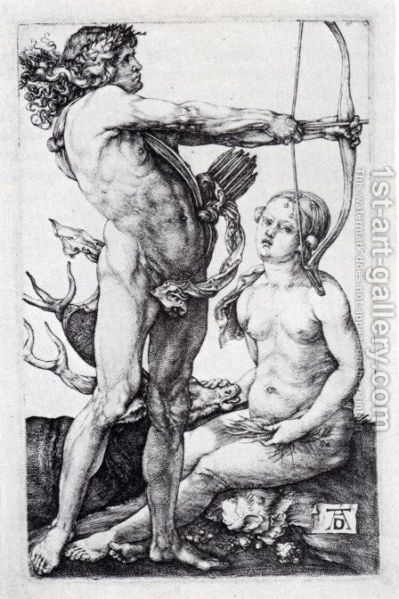 Apollo And Diana by Albrecht Durer - Reproduction Oil Painting