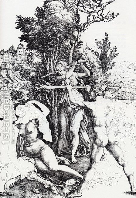 Hercules At The Crossroads by Albrecht Durer - Reproduction Oil Painting