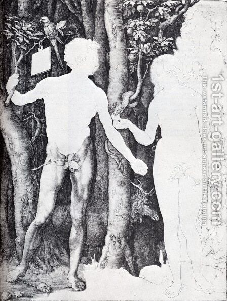 Adam And Eve by Albrecht Durer - Reproduction Oil Painting