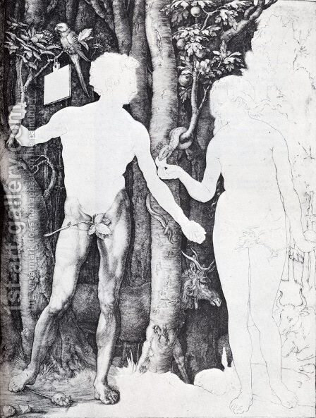 Adam And Eve I by Albrecht Durer - Reproduction Oil Painting