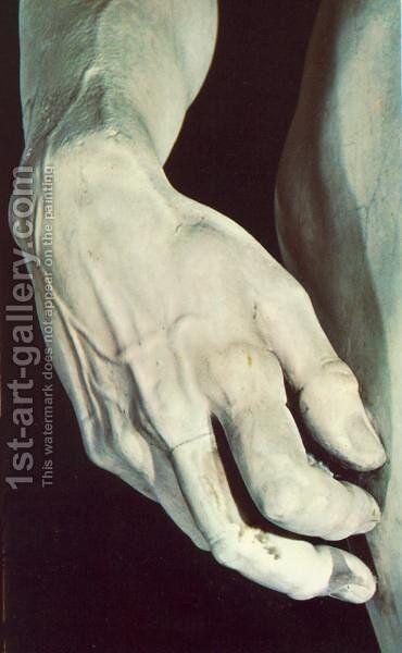 David [detail] I by Michelangelo - Reproduction Oil Painting