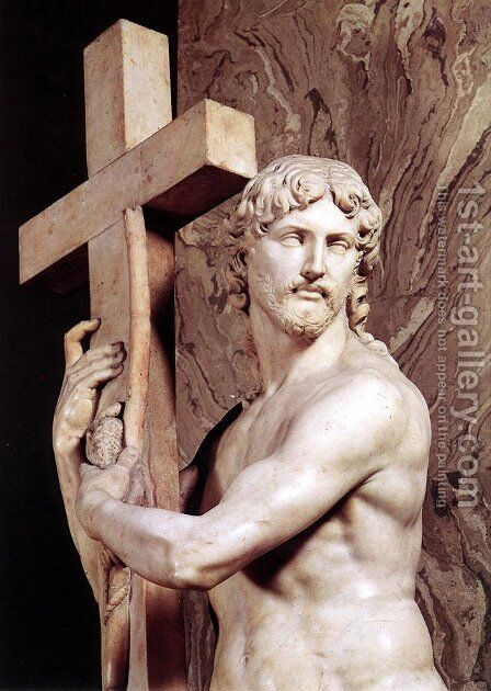 Christ Carrying the Cross [detail: 1] by Michelangelo - Reproduction Oil Painting