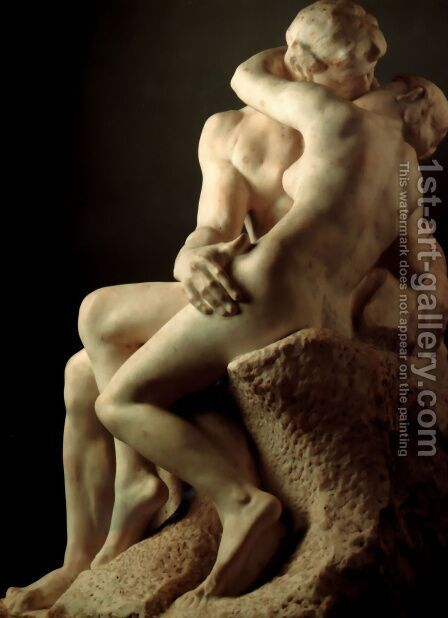 The Kiss by Auguste Rodin - Reproduction Oil Painting