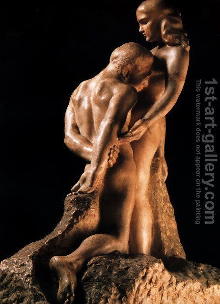 Eternal Idol by Auguste Rodin - Reproduction Oil Painting
